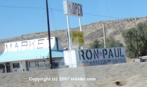 Ron Paul Truth-Freedom-Justice Billboard
