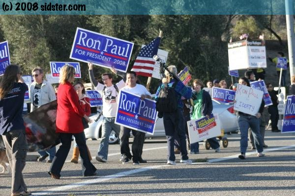 The Ron Paul Force with some Huckabee supporters